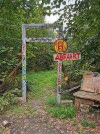 Lostplace im Wald - Abfahrt