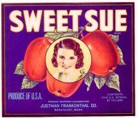 Sweet Sue brand apples