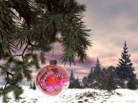Christmas - Pretty Pink Ornament