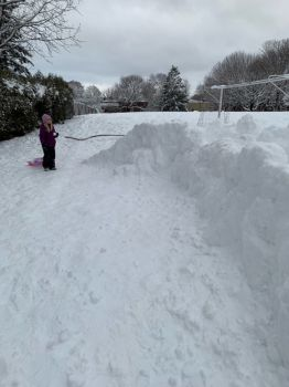 My oldest granddaughter. Lots of snow in Montreal.