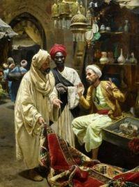 """Rudolph Swoboda, """"The Carpet Seller"""""""