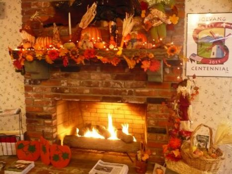 Cozy Autumn Fireplace