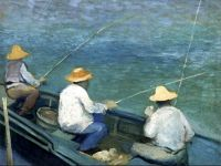 Three Fishermen in a Boat Gustave Caillebotte - 1888