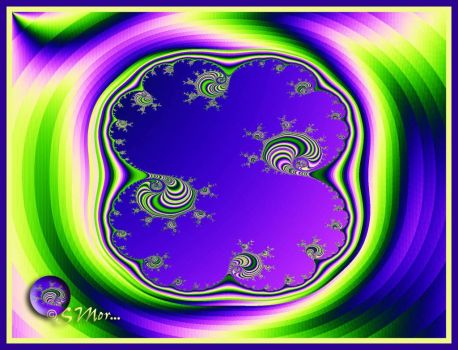 Fractal Musings... In Shades of Purple and Green....