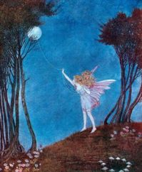 Fairy roping the moon  ,