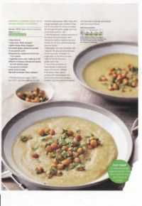 Food recipes 123 - Parsnip & ginger soup with Spiced roast chickpeas