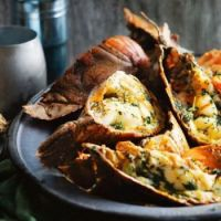 BBQ Moreton Bay bugs with herb and garlic butter