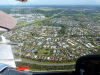 Caboolture from the air.