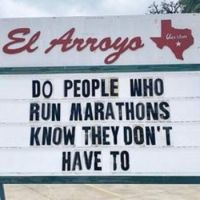 Do people who run marathons