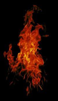 Red orange flame