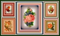 Victorian Roses in Shades of Autumn