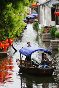 Zhouzhuang, a Water Town in  China