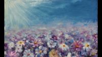 Spring flower oil painting