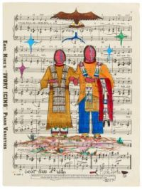 Great Stars of Wings ~ Ledger art by Merle Locke (Oglala Lakota)