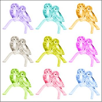 More crystal owls