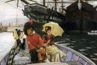 """James Tissot, """"Portsmouth Dockyard"""""""