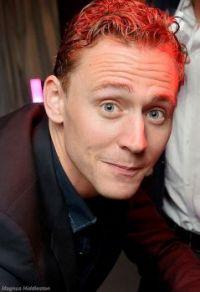 Tom Hiddleston perks up