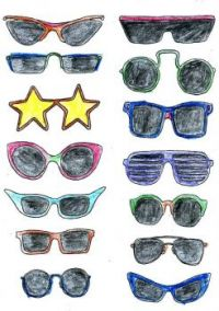 Fashion Coloring Sunglasses