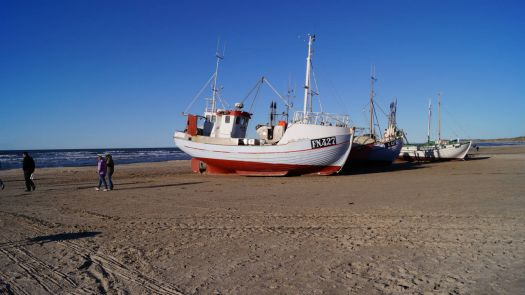 fishingboat on the beach