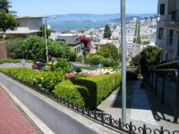Looking down Lombard Street in San Francisco