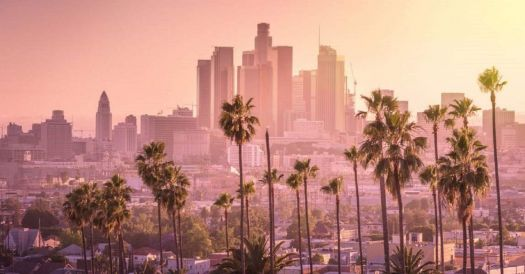 Los Angeles, California  (right foggy, I'd say)