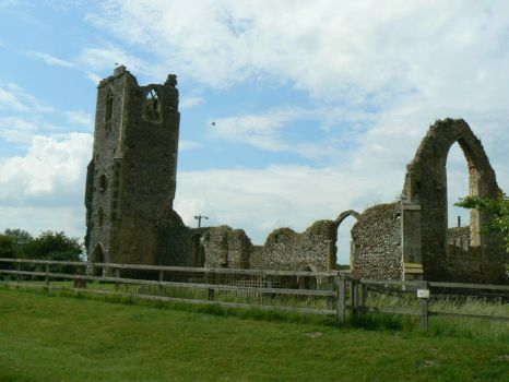 Roudham Church ruins
