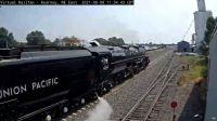 "steam engine ""UP-4014"" & Tender passing Kearney,NE/USA east camera 45-pc"