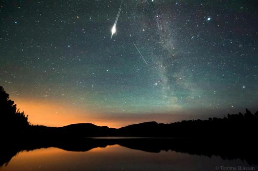 Satellite flare over Statland, Norway, 27 August, 2012 by Tommy Eliassen Photography
