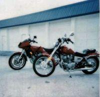 A Yamaha 700 Vision and a Honda CMX250 Rebel
