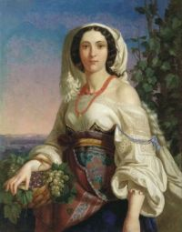 """Woman from Naples"" 1839-Pimen Orlov"