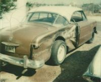 1951 Ford Victoria Hawiian Bronze & Sandpiper Tan 1980-8-24 car from Memphis crashed in Tucson
