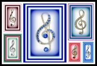 LEFTOVERS - Beautiful Treble Clef Brooches - Enjoy
