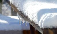 Ice dripping off the table