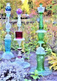 THEME:  Yard Art . . . . . Glass Towers