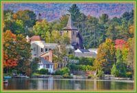 Autumn Scene ~ Mirror Lake, Lake Placid, New York