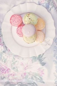 French Macaroons on a Plate