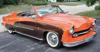 1951 Ford Custom Grill Barris 2 seat top off Crestliner trim orange and brown
