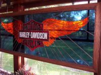 Stained Glass Harley Wings