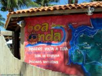 Ad on the wall, Tinhare's Island, Brazil