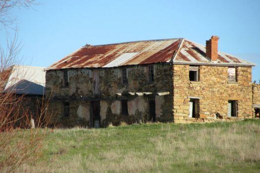 Italian settlers stone house built in the 1800s.