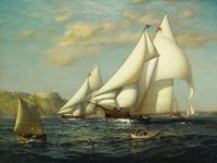 James Gale Tyler, New York Yacht Club Racing Boats in New York Harbor (1884)