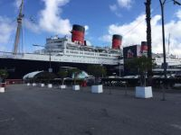 Queen Mary docked at Long Beach, California