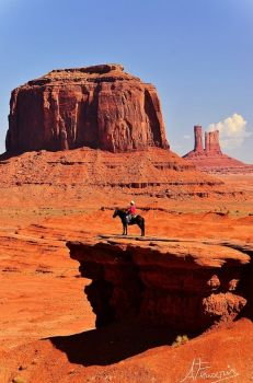 cowboy at monument valley arizona-utah