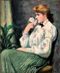 Portrait of a girl with a flower (1914)