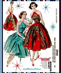 Vintage Fashion 60's Cocktail Dress