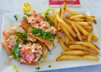 Gloucester, Mass twin lobster rolls, no capers, no shallots, no browned butter, no truffle oil, just a perfect basic lobster roll