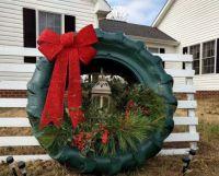 Debbie Lingerfelt Tire Wreath