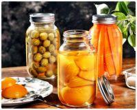 Mason Jar Preserves of Fruits and Veggies