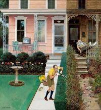 Tidy and Sloppy Neighbors by John Falter 1961