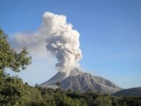 Volcano in Montserrat, West Indies